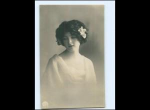 Y14012/ Junge Frau mit Haarschmuck schöne Foto AK 1917