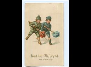 U8831/ Kinder Uniform WK1 Geburtstag AK