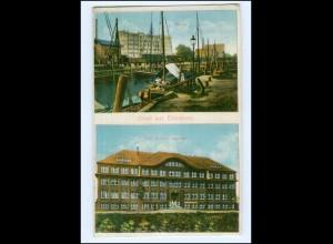 U8521/ Elmshorn Hafen Kgl. Reserve Lazarett AK 1917