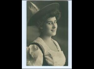 Y14026/ Frau mit Hut schöne Foto AK 1908