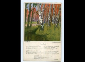 Y14275/ Otto Kaule AK Herbstsonnenschein Bäume AK ca.1912
