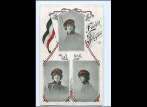Y14020/ Frau in Uniform Fräulein Feldgrau 1. Weltkrieg AK ca.1915