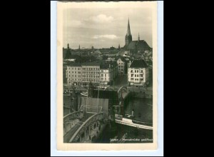 Y13949/ Pommern Stettin Hansabrücke geöffnet Foto AK