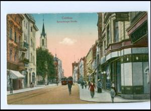 XX006340/ Cottbus Spremberger Straße Straßenbahn AK 1916