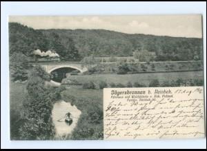 XX006350/ Jägersbronnen bei Reinbek Eisyenbahn AK 1909