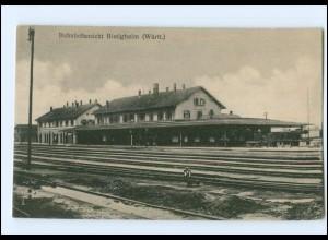 XX006105-7555/ Bietigheim Bahnhof AK 1916