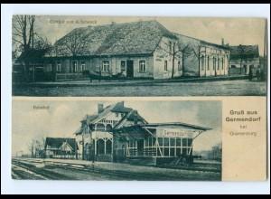 XX006156/ Germendorf bei Oranienburg Bahnhof AK 1929