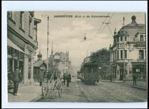 XX006187/ Saarbrücken Victoriastraße Straßenbahn AK ca.1912