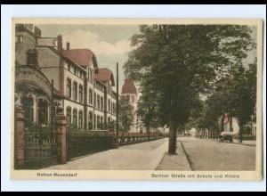 XX006232-165/ Hohen-Neuendorf Berliner Stra0e mit Schule AK 1928