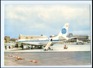 XX008882/ Flughafen Hamburg Fuhlsbüttel PAN AM Flugzeug AK ca.1965-70
