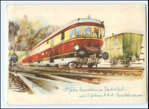 XX008881/ 100 Jahre Eisenbahn in Deutschland M.A.N. Eiltriebwagen AK ca.1930