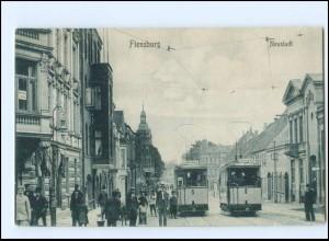 XX006257/ Flensburg Neustadt Straßenbahn AK ca.1912