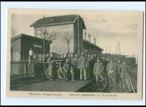 XX006271/ Bahnhof Joudreville b. Norroy-le-Sec Frankreich 1. Weltkrieg AK