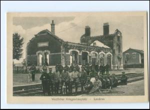 XX006272/ Bahnhof Landres Frankreich 1. Weltkrieg AK ca.1915