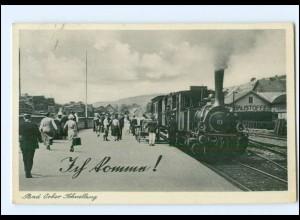 XX006280-6482/ Bad Orb Bahnhof Eisenbahn Schnellzug AK 1939
