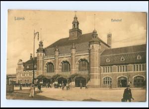 Y14228/ Lübeck Bahnhof AK 1913