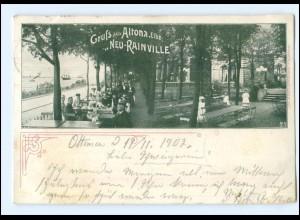 "Y14236/ Hamburg Altona ""Neu-Rainville"" AK 1902"