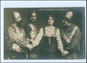 Y14467/ Die Rabensteinerin - Theater-Schauspieler Foto A. Mocsigay ca.1910