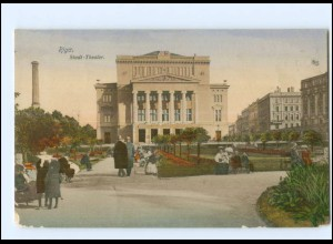 U8788/ Riga Stadt Theater Lettland AK 1913