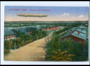 Y14211/ Truppenübungsplatz Lockstedter Lager mit Zeppelin AK 1915