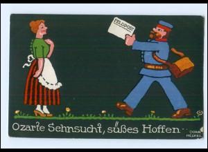 Y14330/ Dora Heckel Litho AK Briefträger Feldpost 1917