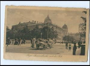 U8820/ Riga Sunvoronbrücke Kutsche Lettland AK 1915