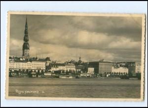 U8800/ Riga Panorama Foto AK 1935 Lettland
