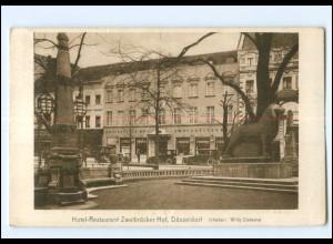 U8821/ Düsseldorf Hotel Zweibrücker Hof AK 1928