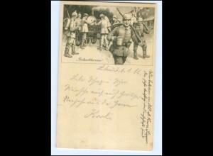 U8810/ Gulaschkanone Soldaten 1. Weltkrieg AK 1916
