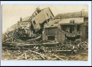 U8843/ Loivre Marne zerstörte Zuckerfabrik Foto AK 1. Weltkrieg ca.1915