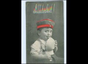 Y14183/ Kind in Uniform - Soldatenkost - 1. Weltkrieg AK 1916