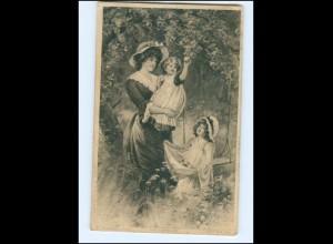Y14185/ Mutter und Kinder Künstler AK P. Tarrant 1912