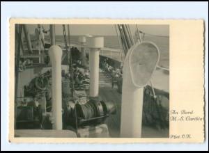 XX008915/ Dampfer M.-S. Caribia Foto Ak ca.1935