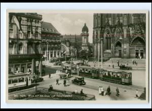 XX006688/ Köln Dom Straßenbahn Foto AK ca.1935