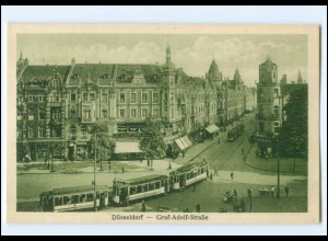 XX006684/ Düsseldorf Graf-Adolf-Str. Straßenbahn AK ca.1925
