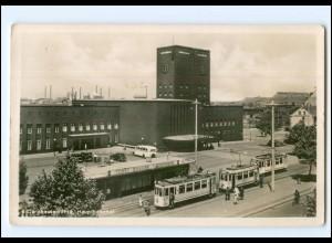 XX006682/ Oberhausen Bahnhof Straßenbahn Foto AK ca.1935