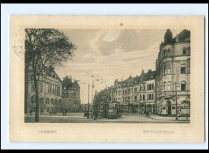 XX006681/ Duisburg Hamborn Rathausstraße Straßenbahn AK 1912