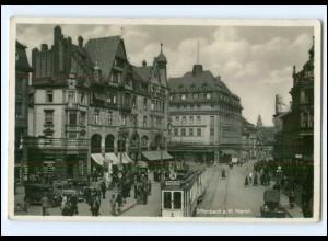 XX006674/ Offenbach Markt Straßenbahn AK 1935