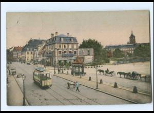 XX007831/ Colmar Rufacherstraße und Marsfeld Straßenbahn 1909 AK