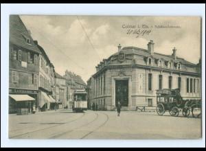 XX007832/ Colmar Schlüsselstraße Straßenbahn 1912 AK
