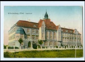 XX009808/ Hamburg Wilhelmsburg Realschule, goldene Fenster AK 1918