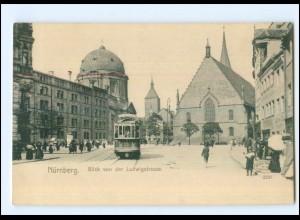 XX006824/ Nürnberg Ludwigstr. Straßenbahn AK ca.1905