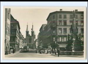 XX006823/ Würzburg Domstraße Straßenbahn Foto AK ca.1935