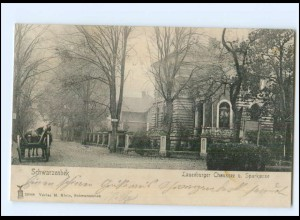 XX007135/ Schwarzenbek Lauenburger Chaussee und Sparkasse 1907 AK