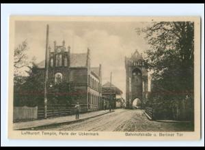 XX006625-172/ Templin Bahnhofstraße u. Berliner Tor AK ca.1920