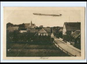 XX10177/ Hittfeld Zeppelin Luftschiff AK ca.1920