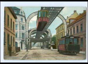 XX007125/ Barmen Elberfeld Vohwinkel Schwebebahn Straßenbahn 1910 AK