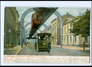 XX007124/ Barmen Elberfeld Vohwinkel Schwebebahn Straßenbahn 1904 AK