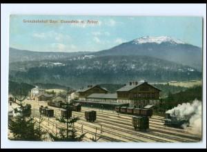 XX007497-8371/ Grenzbahnhof Bayr. Eisenstein AK 1909
