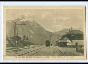 XX007496/ Bahn Garmisch-Partenkirchen-Reutte Bahnhof Ehrwald AK ca.1912